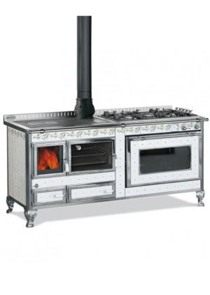180 LGE INOX GENZIANA - cucina combinata-legna/gas