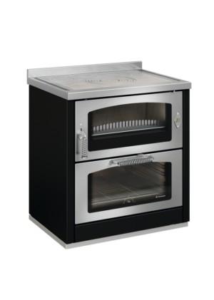 Cucina a legna Domino8 maxi nero